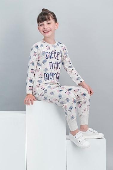 Roly Poly   Kremmelanj Kız Çocuk Pijama Takımı Krem